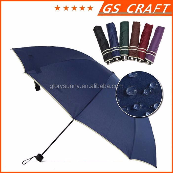 Chinese factory price high quality automatic folding umbrella print ads