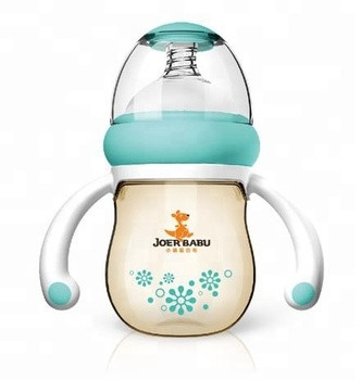 Factory Mold BPA Free PPSU Baby Feeding Bottle 160ML 5oz 6oz baby bottle with handle, pear body shape