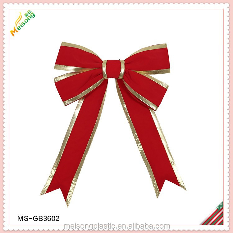 red gift giant bow for holiday decoration