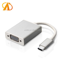 USB C 3.1 Type C to VGA DB15 adapter cable converter supported 1080P
