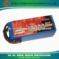 RC discharge 10000mAh 22.2V 25C 6S1P Lipo high rate lithium battery Pack