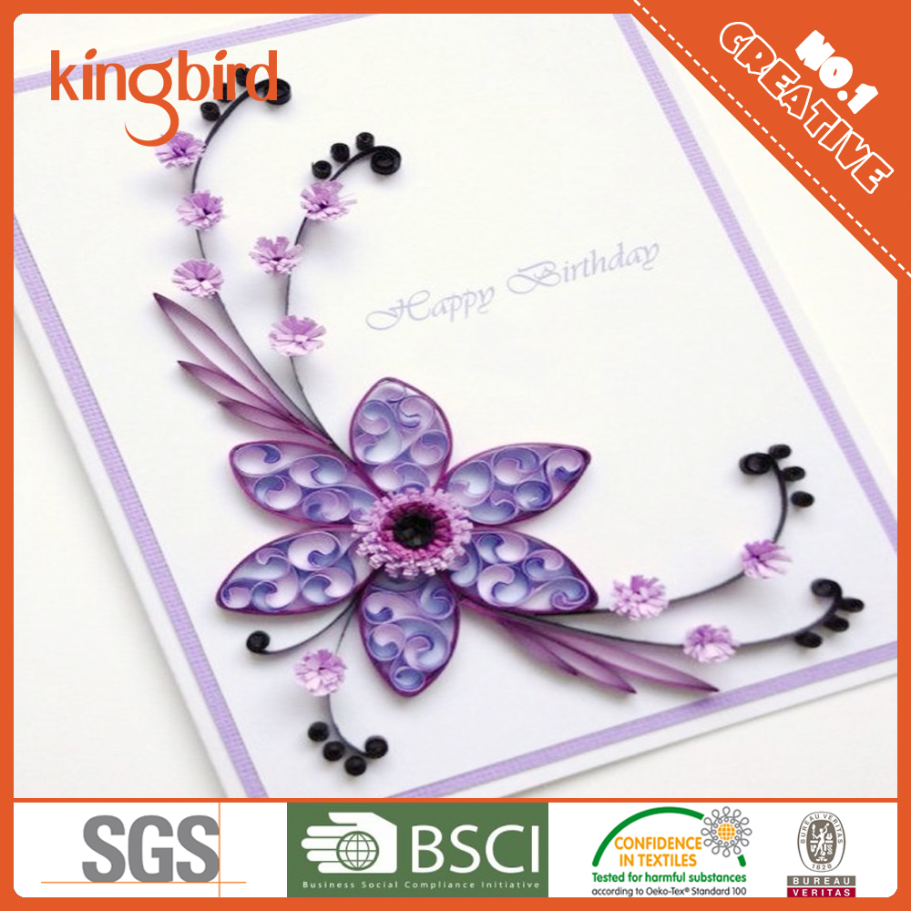 Handmade birthday card paper quilling birthday card