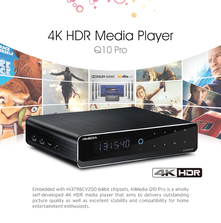 2017 Himedia Hisilicon 2G 16G storage Hi3798C V200 HDR 4K Dolby DTS Android7 Android TV Box