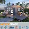 2 units 20ft luxury container homes design, prefab shipping container homes for sale