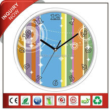 4C Background Funny Design Plastic Promotion Wall Clock