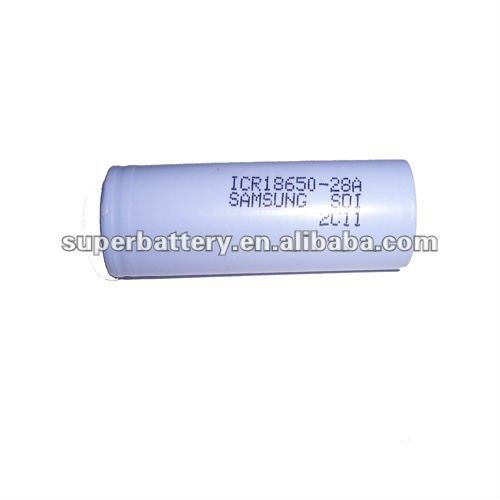 Original Samsung3.7V 2800mAh ICR18650 Li-ion Battery