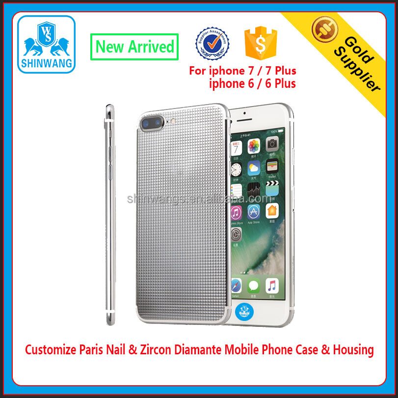 Customize Luxury Paris Nail & Zircon Diamante Mobile Phone Case / Housing for IPhone 7/7 Plus