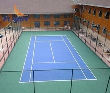 Silicone PU court sports vinyl flooring temporary interlocking basketball court Clay tennis court construction