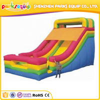 Good design colorful children party giant adult inflatable slide