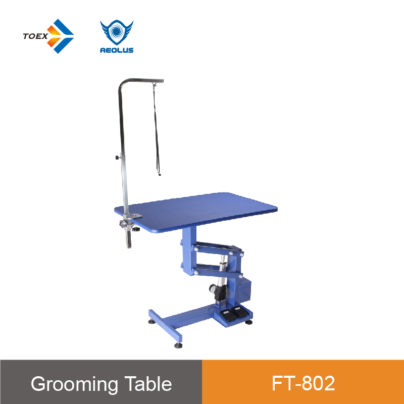 FT-802E/FT-802LE best selling products pet application blue color stable light weight pet grooming long lasting table