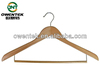 Multi -functional adult suit hanger, wood garment rack with locking bar for hanging pants/skirt