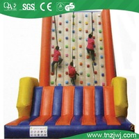 Soft And High Inflatable Climbing Wall