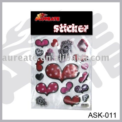 Customised bubble sticker