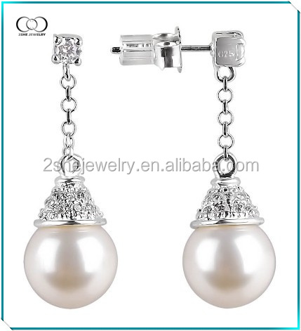 Vogue silver Pearl Earrings Designs