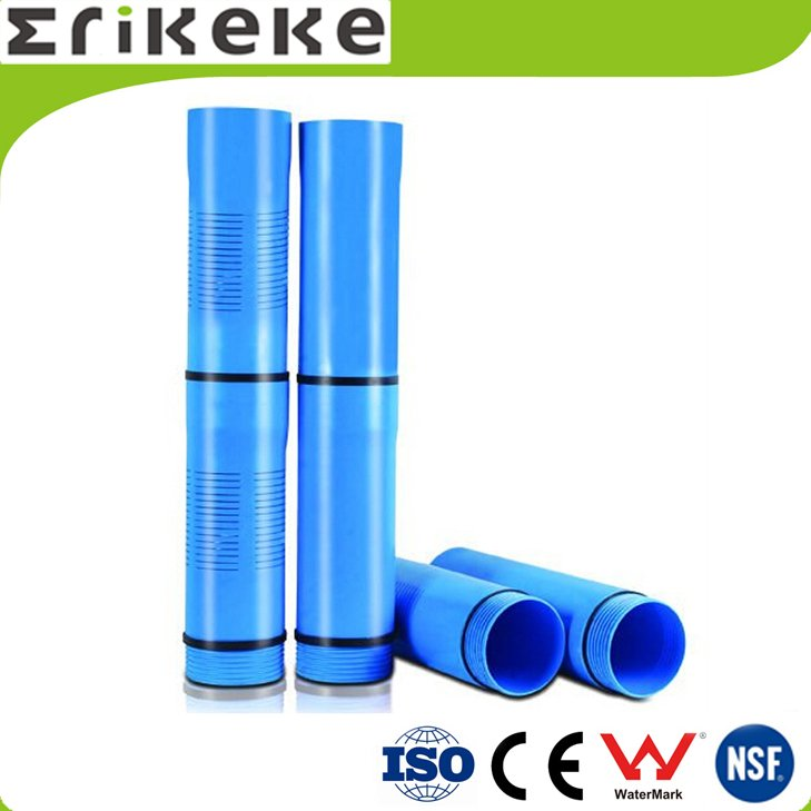 PVC water well casing pipe with threaded end
