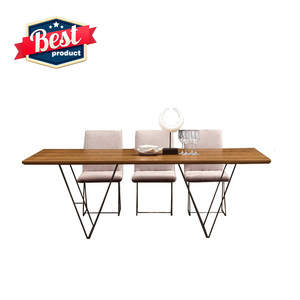 Wholesale new style wooden dining table set 6 chairs modern dining table set wooden for home and hotel