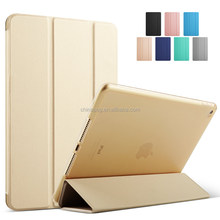 High quality ultra thin three fold pu leather case for ipad air cover for ipad 5 case with softedge