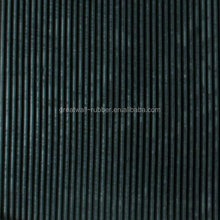 3-8mm thickness Anti slip Fine Ribbed Rubber sheet Rlooring Mat