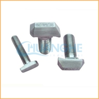 Professional fastener hot forged big size special t type bolt