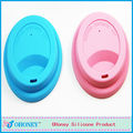 Newest fancy round silicone cup lid,smart cover ,silicone cover Dongguan