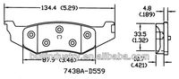 Best-selling Car Brake Pads D559-7438