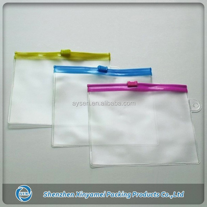 CA PROP65 clear pvc slider zip bags