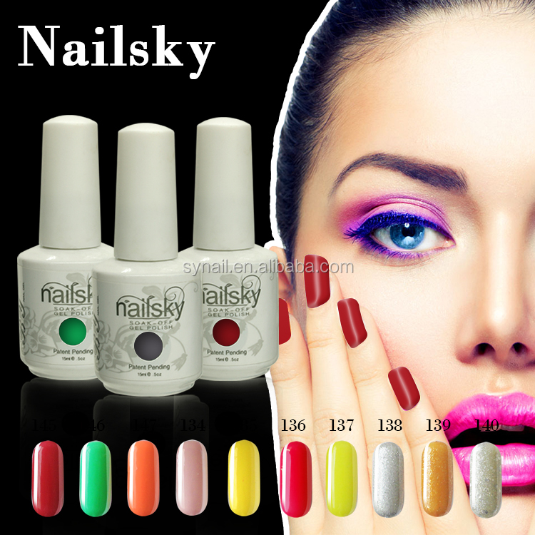 Easy to remove 147 colors gel jelly camouflage everlasting Gel Polish Nail 15ml