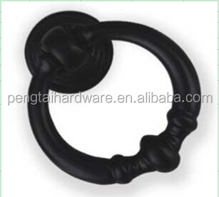 Black color Zamak ring shape pull knob <strong>handle</strong>