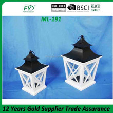 ML-191Set of 2 wholesale moroccan lanterns with metal top and handle home decoration