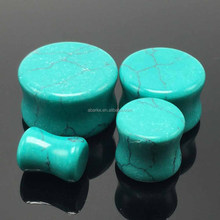 The natural environment of original vintage Tibet blue turquoise jewelry ear plugs