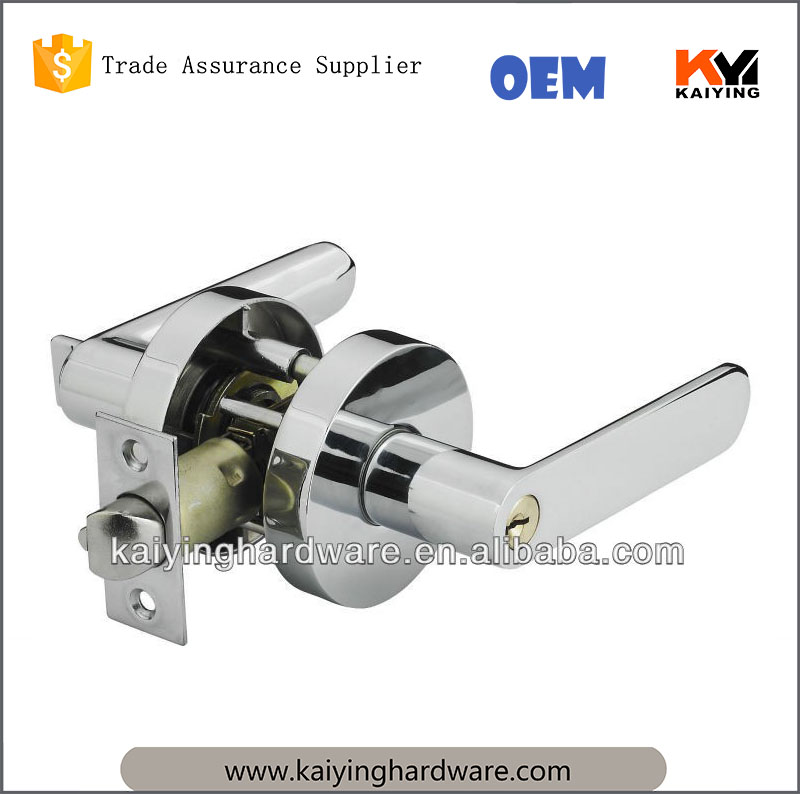 Power Distribution Systems zinc alloy handle 5pion brass cylinder Door Handle Lock