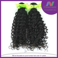 Modern hot sell brazilian human hair wig cheap unprocessed deep wave hair weft