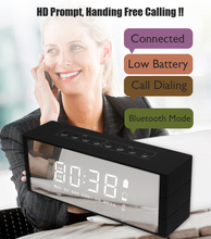 New product to import to south Africa alarm clock wireless speaker micro digit product with FM radio