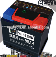 KOREA QUALITY 12V lead acid sealed maintenance free auto battery car battery 88ah