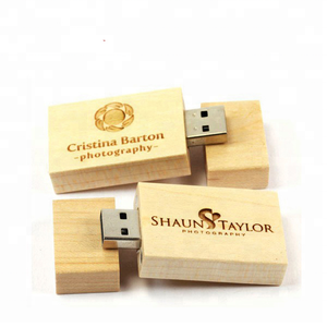 Customized Logo Wooden Usb With Box Pendrive 8GB Usb Flash Drives Bulk cheap