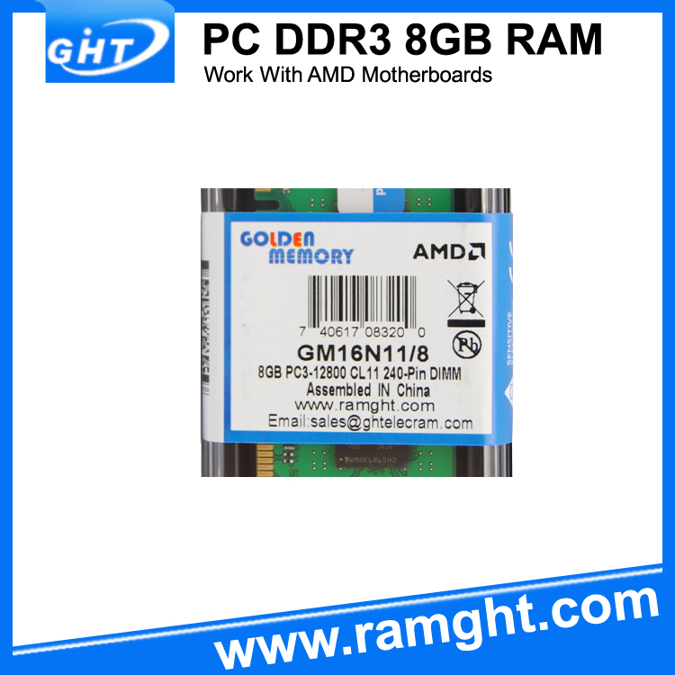 High performance EET chip AMD motherboard compatible 1600mhz ddr3 8gb ram