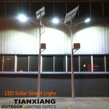 8M double arm solar street light