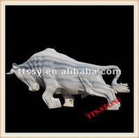 Animal Statue Stone Bull Carved