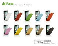 Super slim design for iphone battery leather cover case for the iphone 4 s