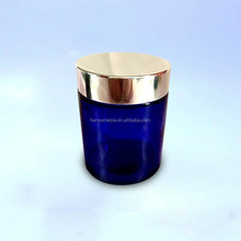 Wholesale frosted glass cosmetic jars with cap for face cream