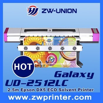 2.5m DX5 head Large Eco Solvent Printer 1440dpi