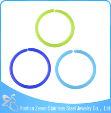Acrylic Nose Stud ring stainless steel BCR Plated Piercing jewellry