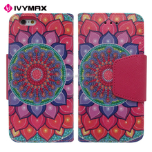 IVYMAX Printed premium PU Leather wallet case flip protective phone skin case for APPLE iphone6 4.7inch