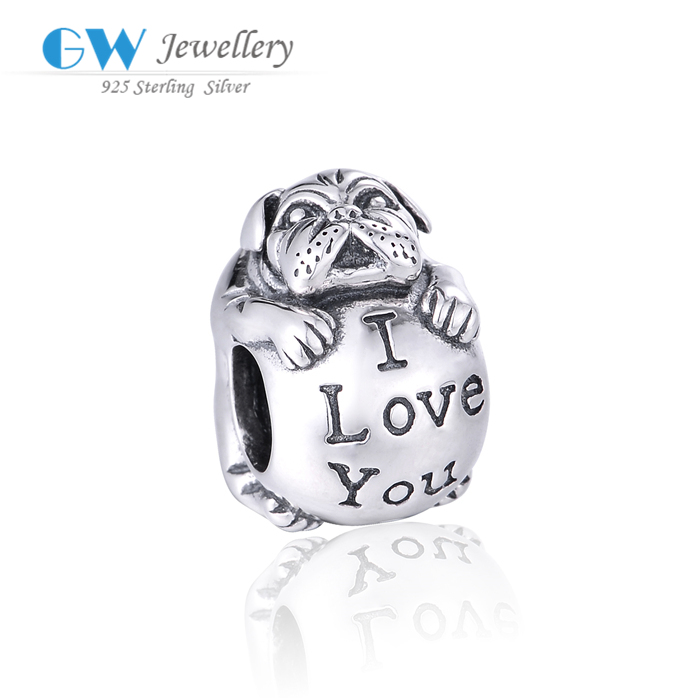 Latest Designs Love Logo Engraved Jewelry Tag Charm