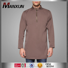 Muslim Men Stand Collar Long Sleeves Tops With Two Pockets Islamic Clothing Malaysia