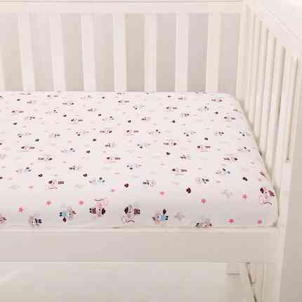 Printed TPU laminated Baby 100 Cotton Jersey Bed Fitted Sheet