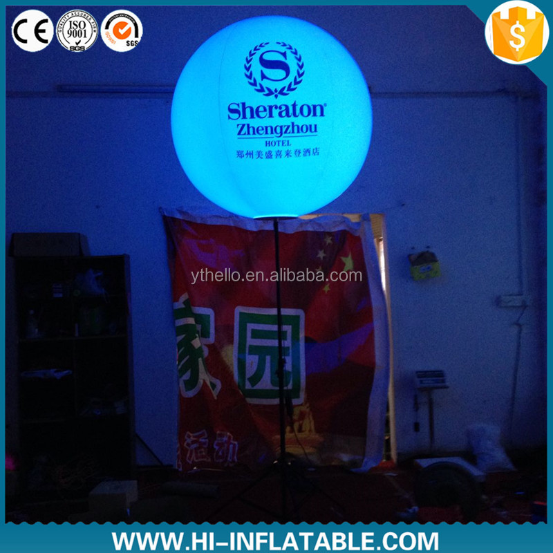 new design hot selling inflatable advertising tripod ball with led light for advertising