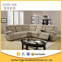 Living room furniture high density foam l shape cheap corner sofa