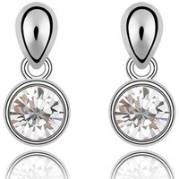 Elegant new fashion jewelry simple design earrings made with Swarovski elements crystal