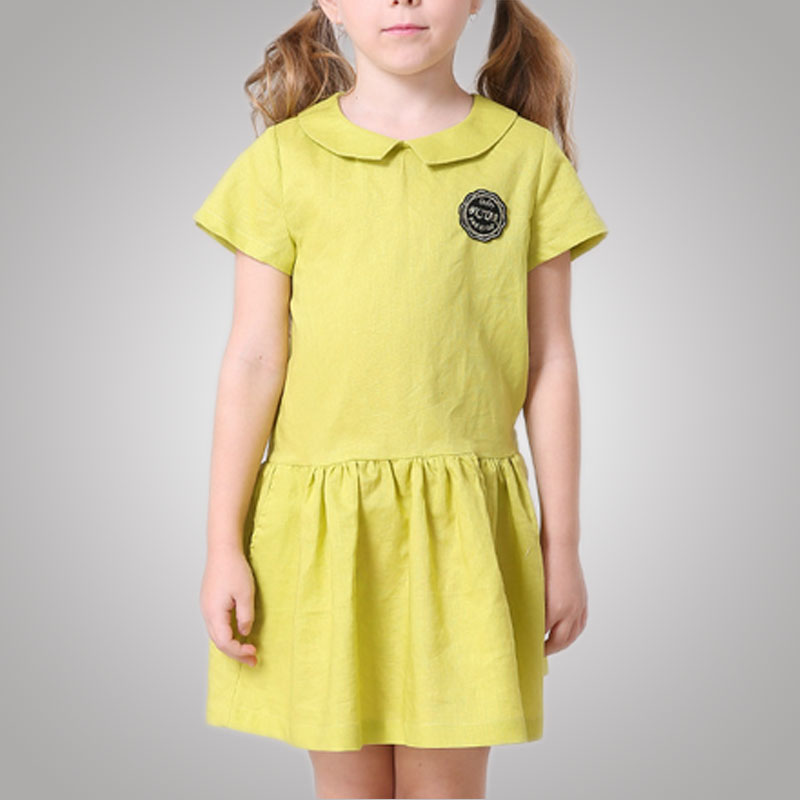 Stretchable Peter Pan Collar Luxury Baby Cloth Dress Reliable Supplier